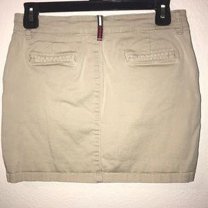 Mini Tommy Hilfiger Stretch Khaki Skirt